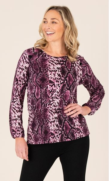 Snake Print Elasticated Top