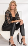Sequin Fringed Open Mesh Cover Up Black/Silver - Gallery Image 2