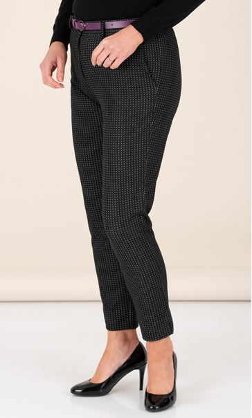 Anna Rose Textured Trousers With Belt