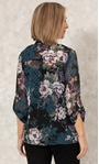 Anna Rose Printed Chiffon Blouse With Necklace Hessian - Gallery Image 2