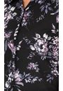 Anna Rose Floral Button Down Blouse Black/Multi - Gallery Image 3