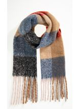 Striped Tassle Scarf