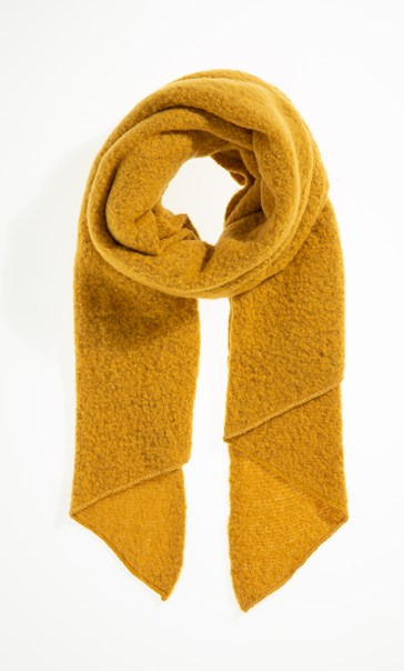 Soft Asymmetric Scarf - Yellow