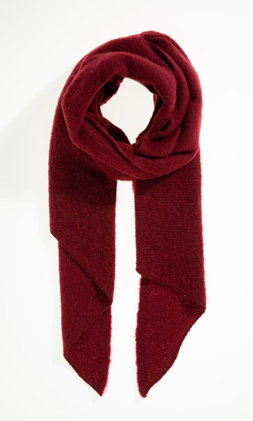 Soft Asymmetric Scarf - Burgundy