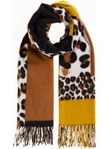 Patchwork Animal Print Scarf