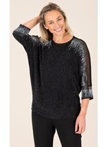 Sparkle Mesh Insert Top