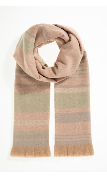 Multi Striped Scarf - Pink