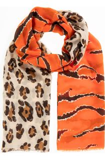 Mixed Print Lightweight Scarf