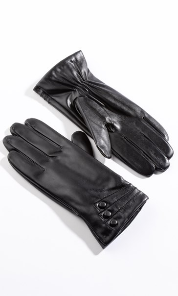 Anna Rose Leather Look Gloves