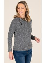 Long Sleeve Zip Collared Top