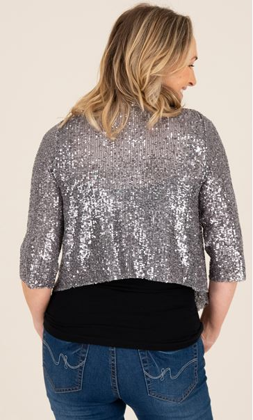 Sequin Cover Up In Silver - Silver