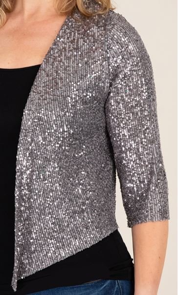 Sequin Mesh Cover Up Light Silver - Gallery Image 3