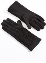Suedette Panel Gloves