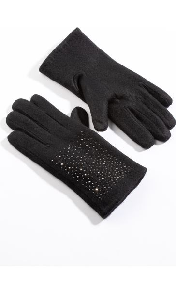 Wool Sparkle Gloves - Black