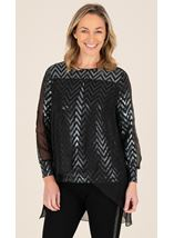 Sparkle Top With Chiffon Layer