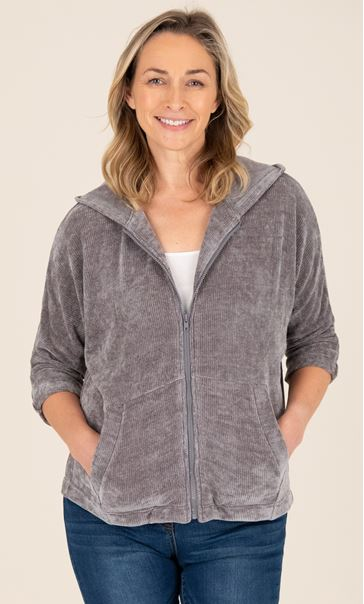 Supersoft Chenille Batwing Zip Front Jacket