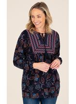 Embroidered Tunic With Tassell Detail