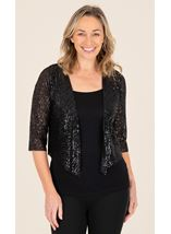Sequin Cover Up In Black