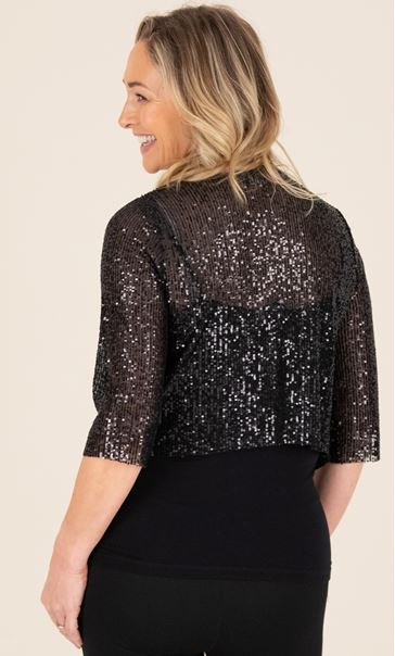 Sequin Cover Up In Black - Black