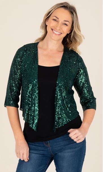 Sequin Cover Up In Emerald - Emerald