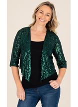Sequin Cover Up In Emerald