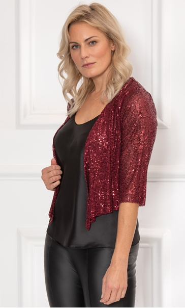 Sequin Cover Up In Merlot - Merlot