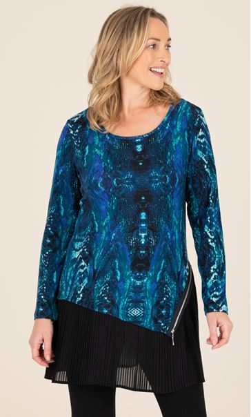 Double Layer Tunic With Zip Detail