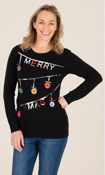 Merry Christmas Bauble Jumper