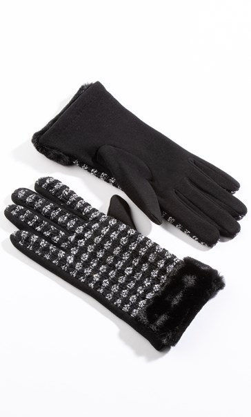 Sparkle Faux Fur Gloves