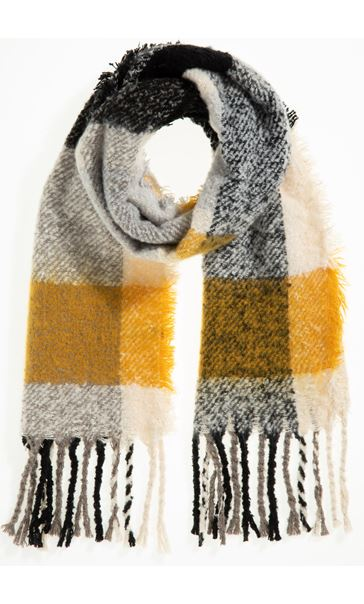 Multi Check Scarf - Yellow