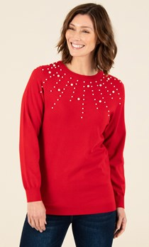 Embellished Knitted Top