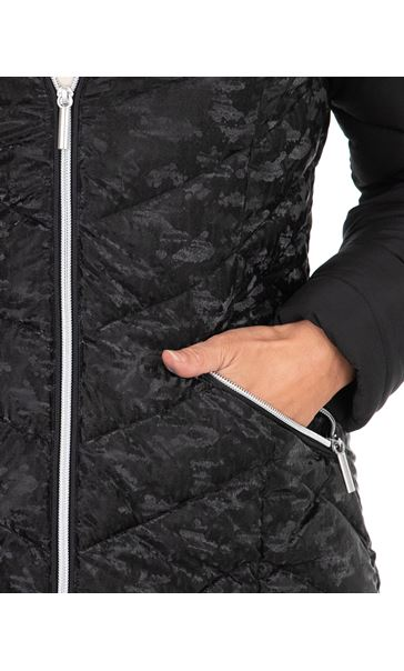 Contrast Sleeve Hooded Jacket Black - Gallery Image 3