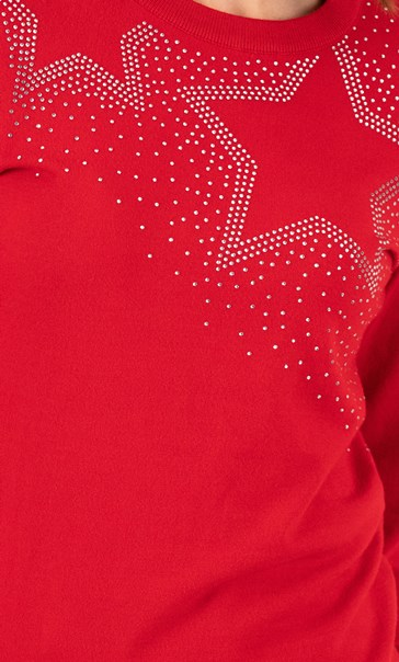 Star Sparkle Jumper Red - Gallery Image 3