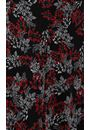 Anna Rose Leaf print Panelled Midi Skirt Black/Red/Grey - Gallery Image 3
