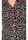 Anna Rose Animal Print Shirt With Necklace Black/Multi - Gallery Image 3