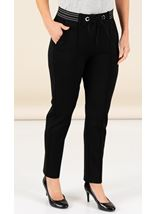Ponte Ribbed Insert Trousers