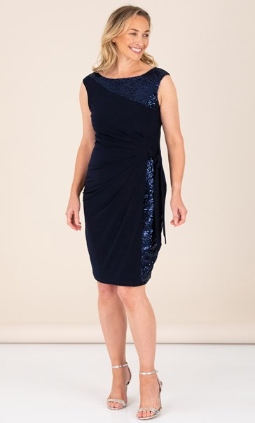Asymmetric Sleeveless Evening Dress