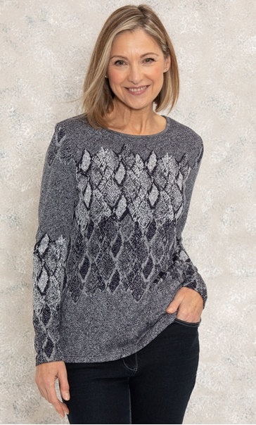 Anna Rose Knitted Jacquard Top