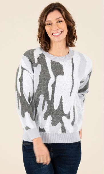 Soft Knit Camouflage Jumper