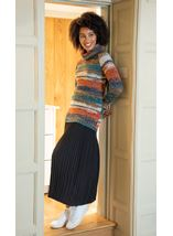 Polar Neck Stripe Jumper