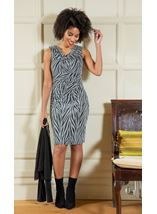 Animal Print Sleeveless Midi Dress
