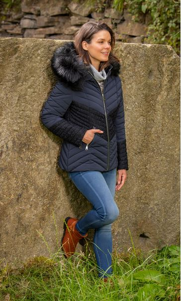 Faux Fur Padded Coat