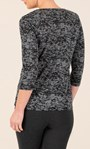 Anna Rose Patchwork Print Jersey Top Hessian - Gallery Image 2