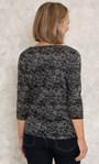 Anna Rose Patchwork Print Jersey Top Hessian - Gallery Image 3