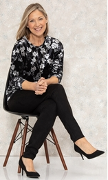 Anna Rose Velour Top With Necklace
