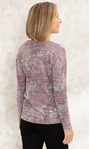 Anna Rose Floral Print Knit Top With Necklace Pink Multi - Gallery Image 3