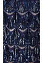 Sequin Fringed Mesh Sleeveless Top Midnight/Gold - Gallery Image 3