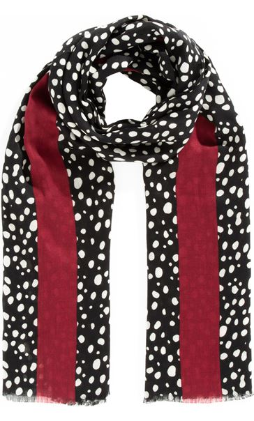 Spot And Stripe Print Scarf
