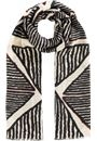 Triangle Print Scarf Black - Gallery Image 1