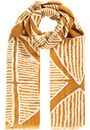 Triangle Print Scarf Ochre - Gallery Image 1